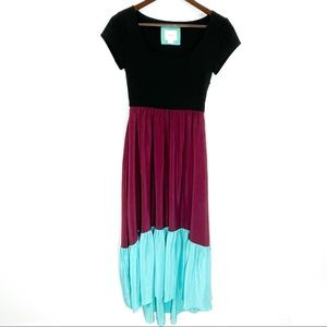 Maeve by Anthropologie Tiered Color-block Dress